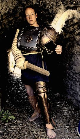 My father was a successful gladiator and contrary to normal practice in those days taught me fighting techniques.  I volunteered for the ludus and fight now for fame and honour.